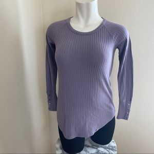 Chaser purple waffle knit thermal top sz.S